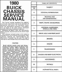 1980 Buick Repair Shop Manual Riviera Skyhawk Century Regal Lesabre Electra