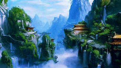 Chinese Dynasty Imperial Pretty Nature Landscape Background