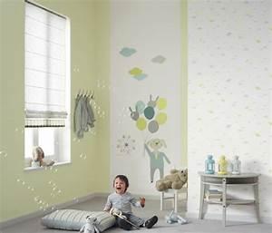 Papier Peint Bébé Garcon : papierpeint9 papier peint chambre b b gar on ~ Nature-et-papiers.com Idées de Décoration