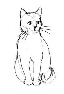 cat drawing easy simple cat drawings clipart best