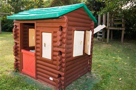 log cabin playhouse stock photo image  playground vinyl