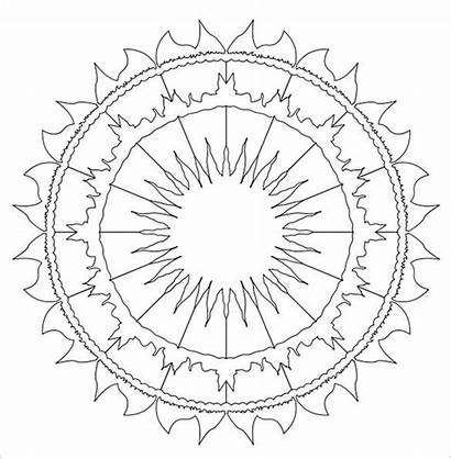 Mandala Template Sun Coloring Pages Templates Colouring