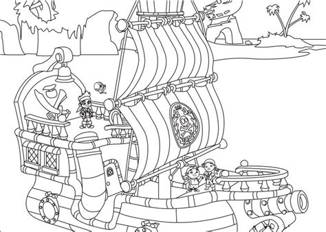 jake    land pirates coloring pages    print