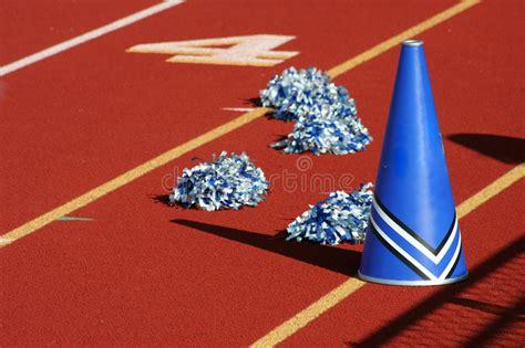 cheerleader megaphone stock photo image  school