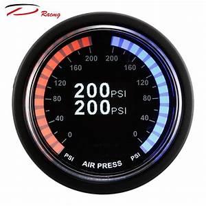 52mm D Racing Dual Colors Digital Dual Air Suspension