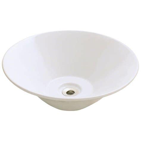 polaris sinks porcelain vessel sink in white p28122v w