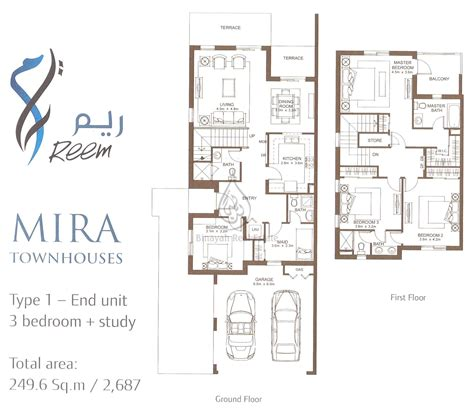 4 bedroom townhouse floor mira villas and townhouses in dubai