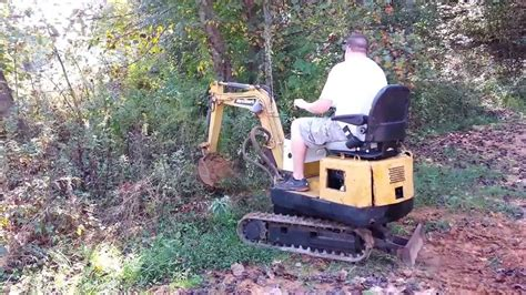 nissan  giant mini excavator predator engine retro fit youtube