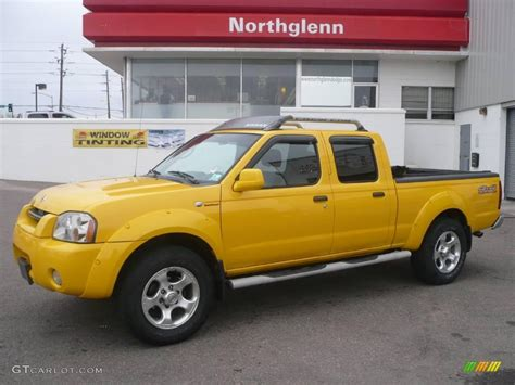 nissan yellow 2003 solar yellow nissan frontier sc v6 crew cab 4x4