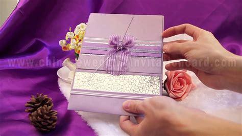 Romantic Purple Wedding Invitation Card Design With Purple