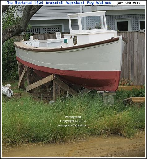Draketail Boat by The 1925 Draketail Workboat Peg Wallace On Display At The