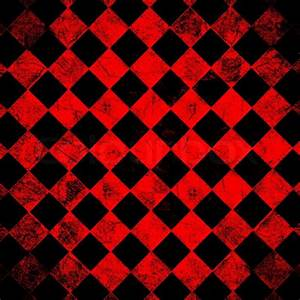 Grunge red checkered, abstract background Stock Photo