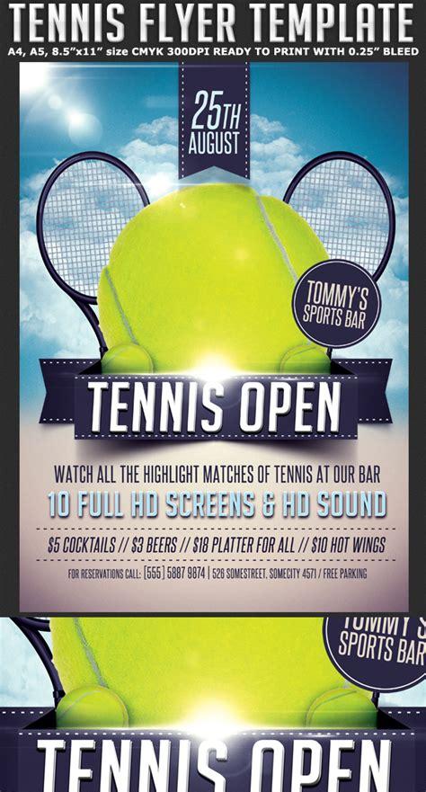 tennis tournament flyer template  behance