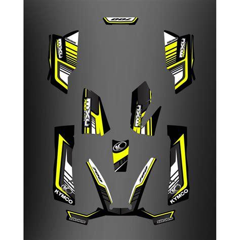 kit deco 700exi limited yellow kymco 700 mxu idgrafix