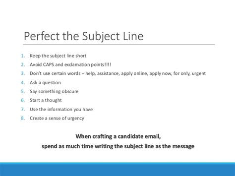 resume subject line email tips for passive candidate