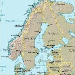 Scandinavia Map Europe Countries