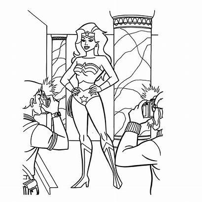 Wonder Woman Kleurplaat Kleurplaten Frau Wonderwoman Ausmalbilder