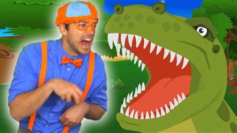scary dinosaur song blippi educational