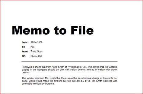 Memo To File Template how to write a memo to file ehow uk