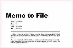 How to write a memo to file ehow uk for Memo to file template