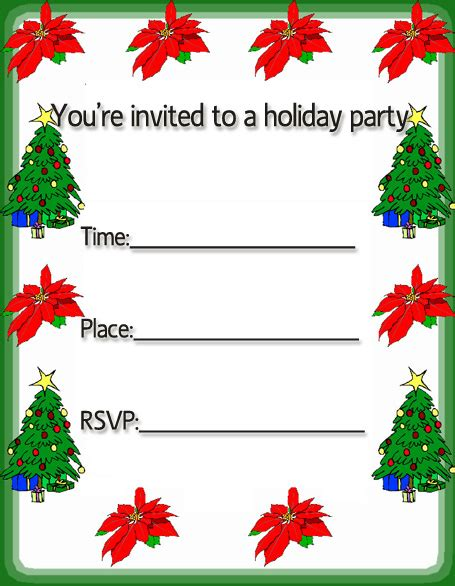 free christmas invitation cards free merry christmas holiday party invitations