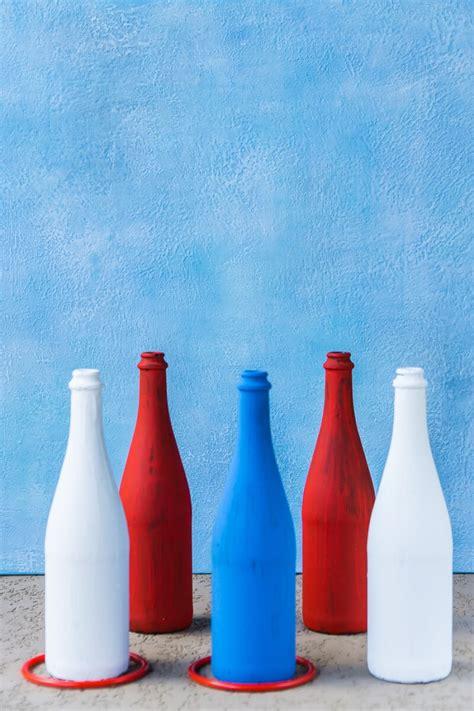 simple patriotic diy ring toss game  bottles