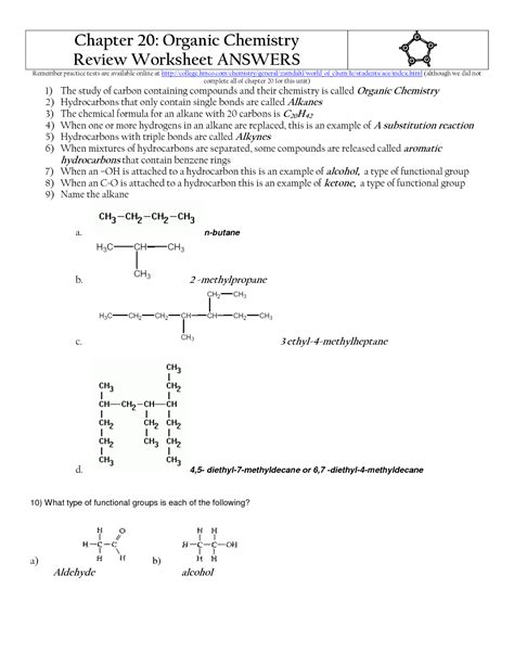 17 best images of biology organic compounds worksheet