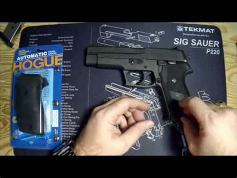 installing replacement hogue grips  sig sauer p p
