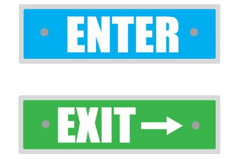 exit light enter printable enter sign and exit signs free door