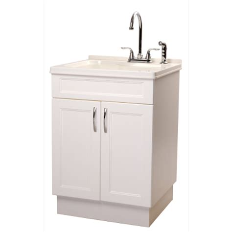 utility sink faucet lowes shop transform 25 in x 22 in abs white freestanding