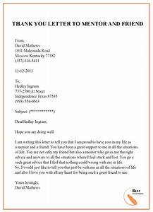 Appreciation Letter Sample Pdf Thank You Letter Template To Mentor Sample Examples