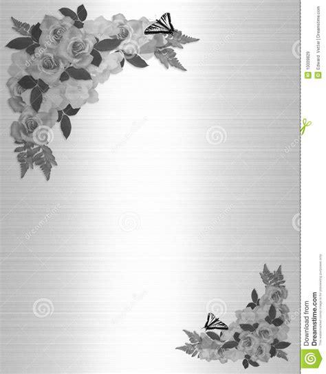 branco do preto das rosas do convite do casamento imagens de stock royalty free imagem 10009829