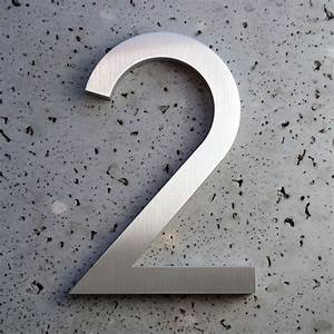 modern font brushed aluminum 2 santa fe furnishingssanta With cheap house numbers and letters