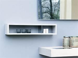 meuble pour petite salle de bain une selection originale With salle de bain design avec petites étagères murales décoratives