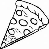 Pizza Coloring Pages Colouring Colour Printable Adults Delicious sketch template