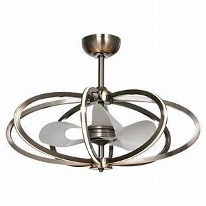Maxim Lighting Fandelier Polished Chrome LED Ceiling Fan