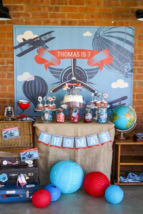 vintage airplane birthday party airplane birthday party