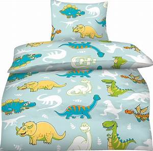 Kinderbettwäsche 100x135 Mädchen : bettw sche 100x135 cm kinder mikrofaser dinosaurier dino blau jungen bunt trex aminata kids ~ Orissabook.com Haus und Dekorationen