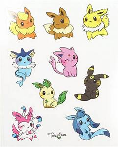 Eeveelution Stickers Pokemon Stickers Kawaii by ...