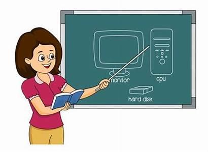 Teacher Computer Clipart Clip Parts Cliparts Reviewing
