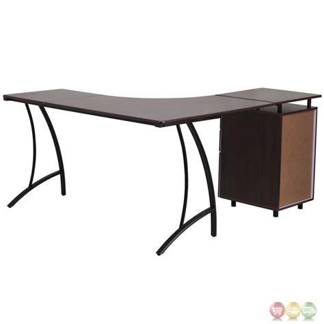 l shaped desk under 200 walnut laminate l shape desk with three drawer pedestal