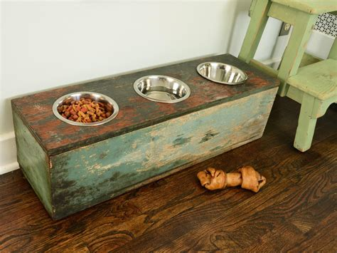 elevated cat food table how to make a pet feeding station hgtv