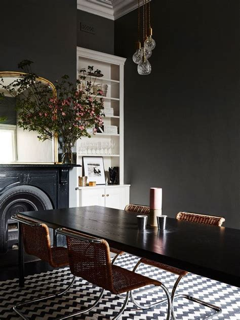 chic black dining rooms