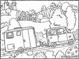 Caravan Colouring Drawing Kiddicolour Template Coloring Pages Sketch sketch template