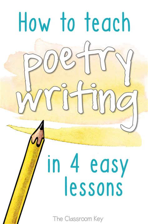 How To Teach Poetry Writing In 4 Easy Lessons  The Classroom Key