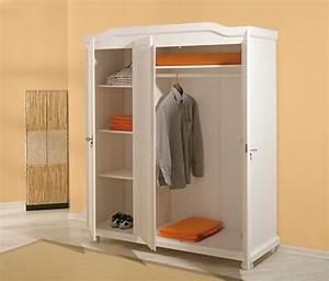 Armoire Basse Chambre : armoire 3 portes bastian blanc ~ Melissatoandfro.com Idées de Décoration