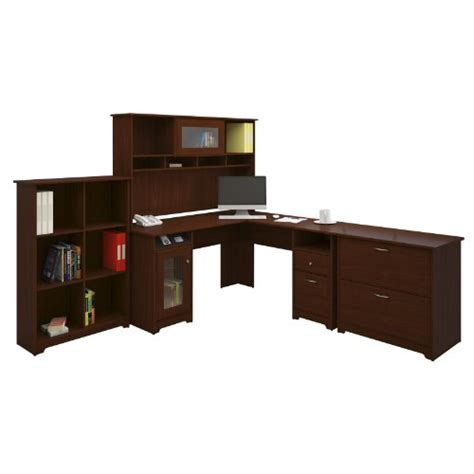 Bush Cabot L Shaped Desk Dimensions by Bush Furniture Bush Furniture Cabot L Desk With