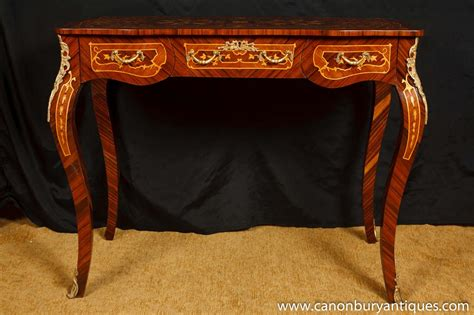 bureau marqueterie louis xv bureau plat desk writing table marquetry inlay