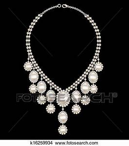 clipart femme collier mariage a perles sur a With collier femme mariage