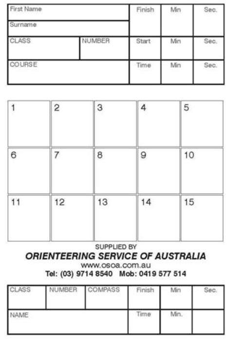 Orienteering Card Template by Orienteering Card Template 28 Images Orienteering